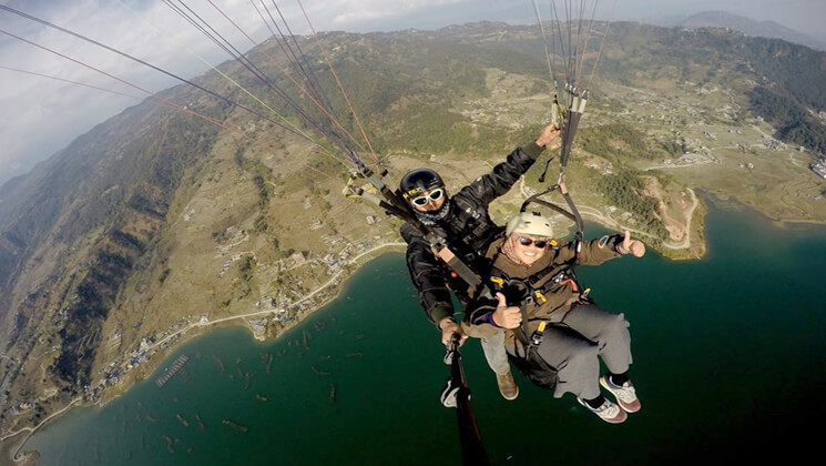 nepal paragliding tour package