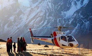 Annapurna Sanctuary by helicopter tour